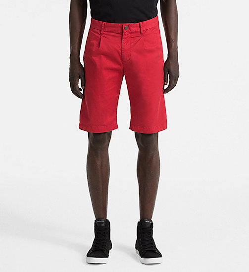 CALVIN KLEIN JEANS Stretch Twill Chino Shorts - TANGO RED - CALVIN KLEIN JEANS NEW IN - main image