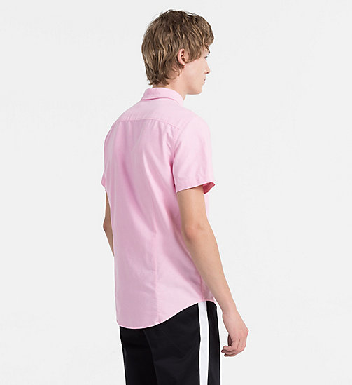 CALVIN KLEIN JEANS Oxford Short-Sleeve Shirt - WILD ORCHID - CALVIN KLEIN JEANS NEW IN - detail image 1