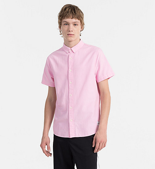 CALVIN KLEIN JEANS Oxford Short-Sleeve Shirt - WILD ORCHID - CALVIN KLEIN JEANS NEW IN - main image