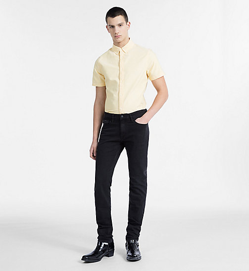 CALVIN KLEIN JEANS Slim Oxford Short-Sleeve Shirt - SPECTRA YELLOW - CALVIN KLEIN JEANS CLOTHES - detail image 1