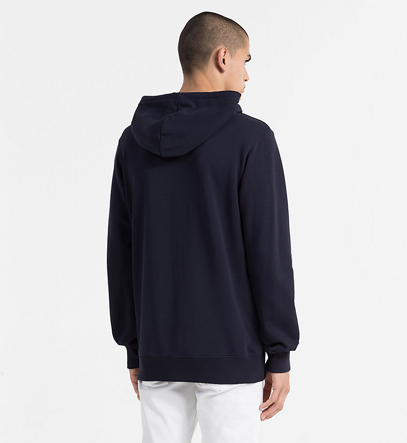 CALVIN KLEIN JEANS Logo Hoodie - LIGHT GREY HEATHER - CALVIN KLEIN JEANS MEN - detail image 2