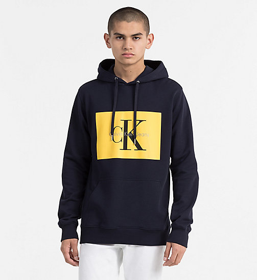 CALVIN KLEIN JEANS Logo Hoodie - NIGHT SKY - CALVIN KLEIN JEANS NEW IN - main image