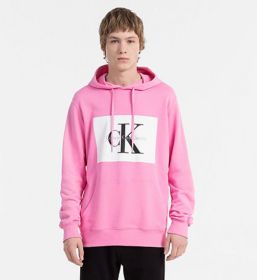 CALVIN KLEIN JEANS Logo Hoodie - WILD ORCHID - CALVIN KLEIN JEANS NEW IN - main image