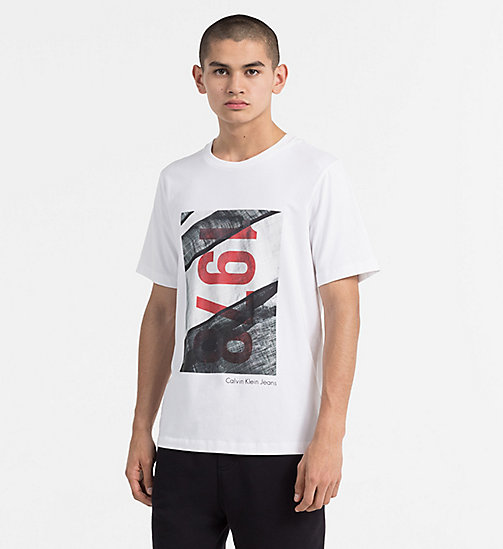 CALVIN KLEIN JEANS Printed T-shirt - BRIGHT WHITE - CALVIN KLEIN JEANS CLOTHES - main image