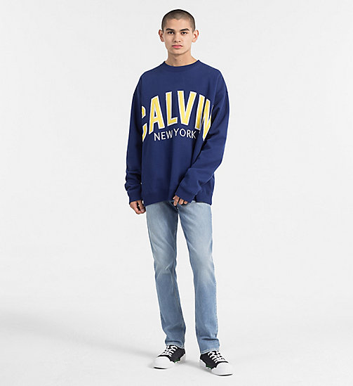 CALVIN KLEIN JEANS Sweatshirt mit Logo-Applikationen - BLUE DEPTHS - CALVIN KLEIN JEANS NEW IN - main image 1