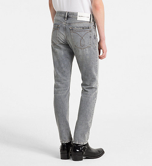 CALVIN KLEIN JEANS CKJ 026 Slim Jeans - NOVATO GREY DESTRUCTED - CALVIN KLEIN JEANS NEW DENIM - detail image 1