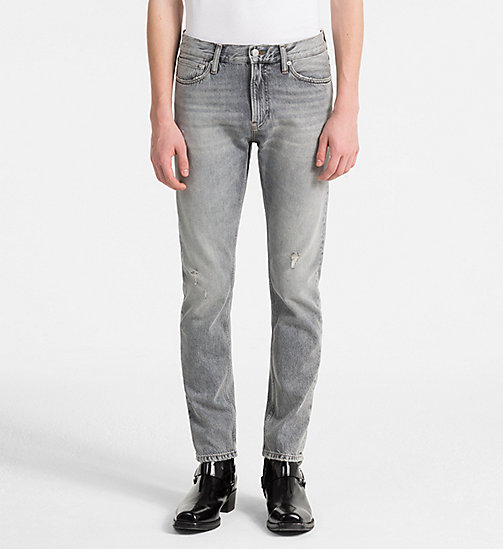 CALVIN KLEIN JEANS CKJ 026 Slim Jeans - NOVATO GREY DESTRUCTED - CALVIN KLEIN JEANS NEW DENIM - main image