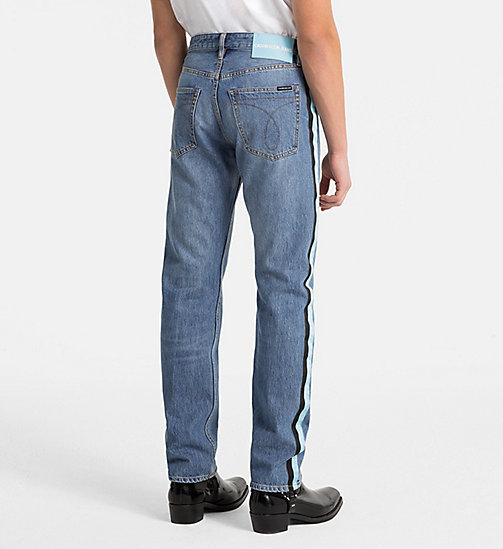 CALVIN KLEIN JEANS CKJ 035 Straight Taped Jeans - LYON BLUE - CALVIN KLEIN JEANS NEW DENIM - detail image 1