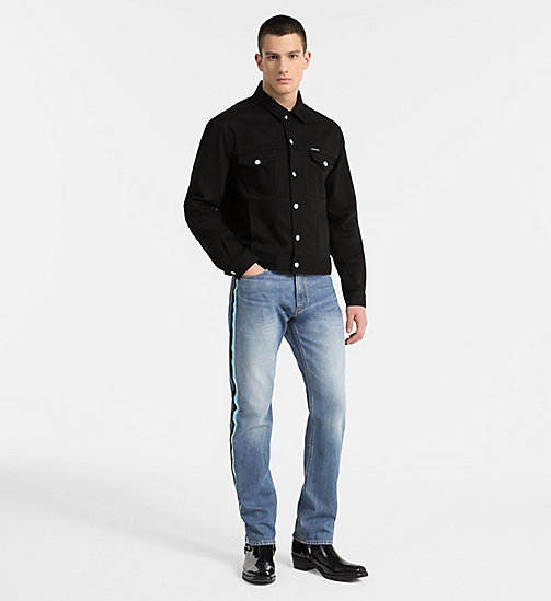CALVIN KLEIN JEANS CKJ 035 Straight Taped Jeans - LYON BLUE - CALVIN KLEIN JEANS CLOTHES - main image 1