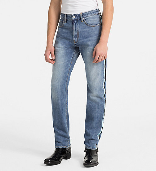 CALVIN KLEIN JEANS CKJ 035 Straight Taped Jeans - LYON BLUE - CALVIN KLEIN JEANS NEW DENIM - main image