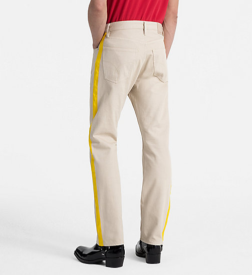 CALVIN KLEIN JEANS High Straight Taped Jeans - KHAKI/SPECTRE YELLOW - CALVIN KLEIN JEANS CLOTHES - detail image 1