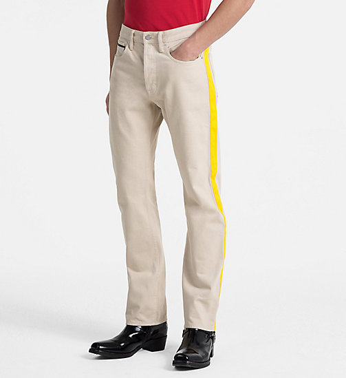 CALVIN KLEIN JEANS High Straight Taped Jeans - KHAKI/SPECTRE YELLOW - CALVIN KLEIN JEANS CLOTHES - main image