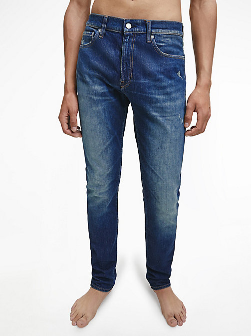CKJ 026 Slim Jeans - LISBON DARK BLUE - CALVIN KLEIN JEANS NEW IN - main image