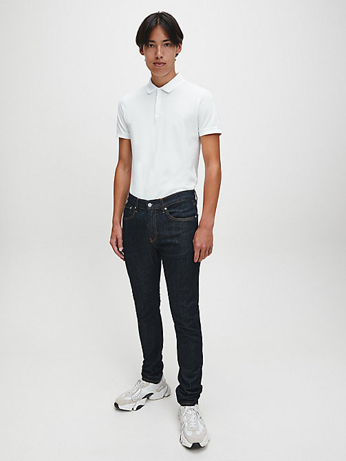 CALVIN KLEIN JEANS Slim Cotton Piqué Polo - BRIGHT WHITE - CALVIN KLEIN JEANS CLOTHES - detail image 1