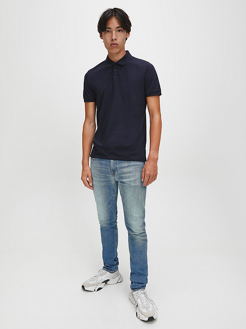Slim Cotton Piqué Polo - CK BLACK - CALVIN KLEIN JEANS MEN - detail image 1