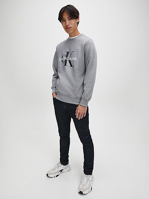 CALVIN KLEIN JEANS Logo Sweatshirt - GREY HEATHER - CALVIN KLEIN JEANS NEW IN - detail image 1