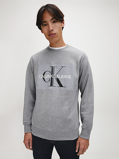 CALVIN KLEIN JEANS Logo Sweatshirt - GREY HEATHER - CALVIN KLEIN JEANS NEW IN - main image