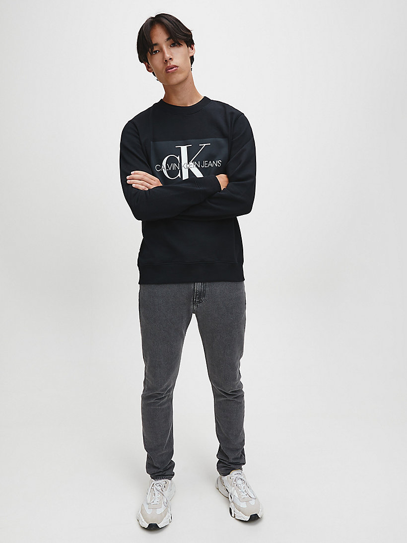 Logo-Sweatshirt - GREY HEATHER - CALVIN KLEIN JEANS HERREN - main image 1