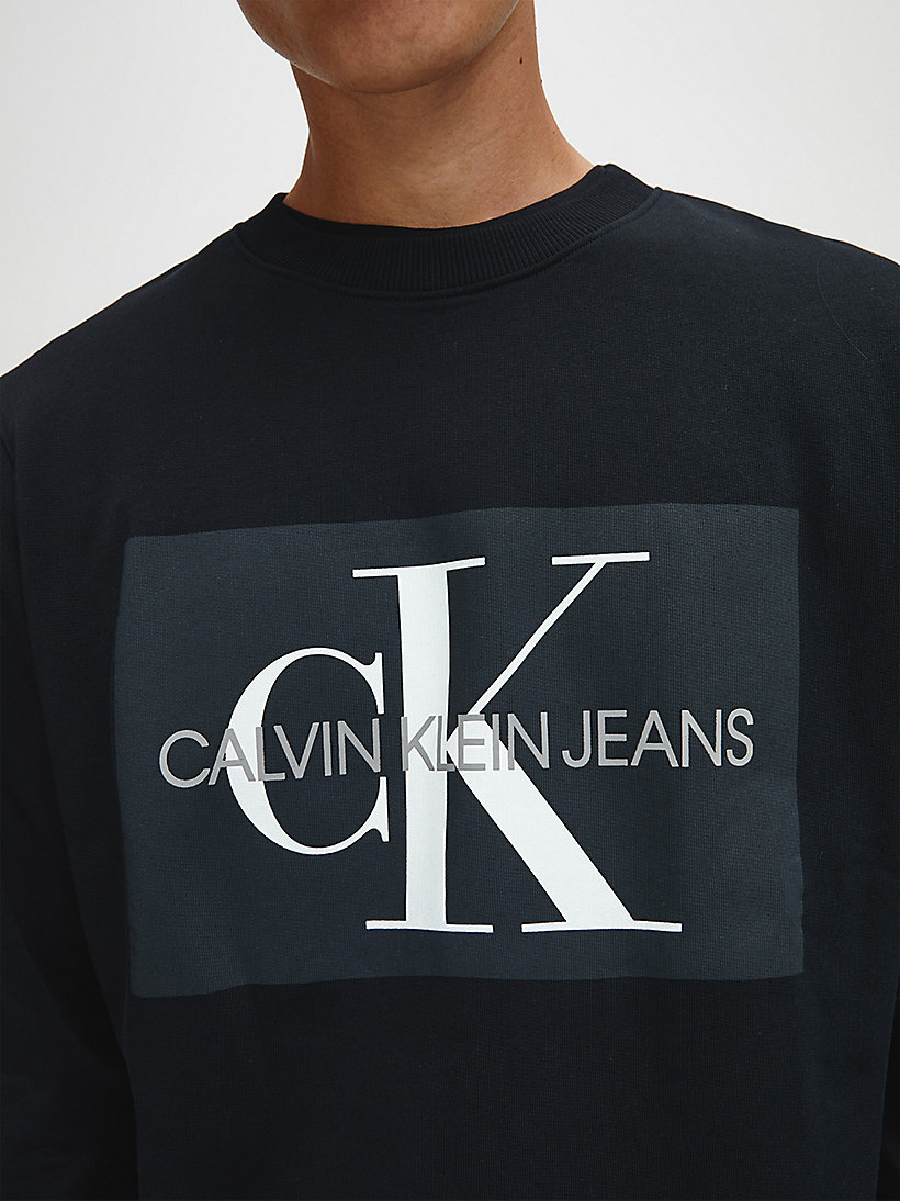 Logo-Sweatshirt - GREY HEATHER - CALVIN KLEIN JEANS HERREN - main image 3