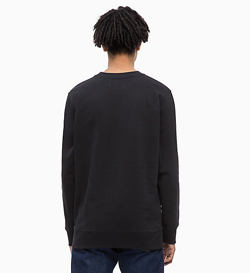 CALVIN KLEIN JEANS Cotton Terry Sweatshirt - CK BLACK - CALVIN KLEIN JEANS CLOTHES - detail image 1