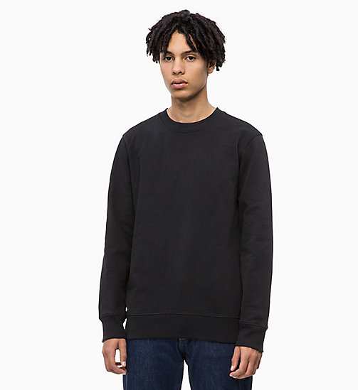 CALVIN KLEIN JEANS Cotton Terry Sweatshirt - CK BLACK - CALVIN KLEIN JEANS CLOTHES - main image