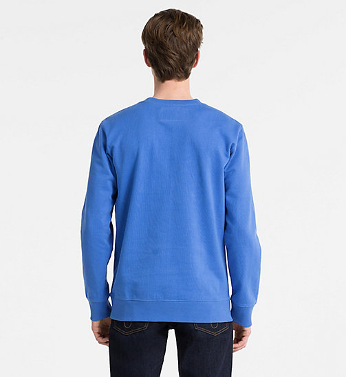 CALVIN KLEIN JEANS Cotton Terry Sweatshirt - REGATTA - CALVIN KLEIN JEANS CLOTHES - detail image 1