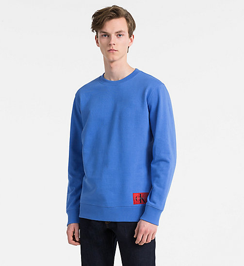 CALVIN KLEIN JEANS Cotton Terry Sweatshirt - REGATTA - CALVIN KLEIN JEANS CLOTHES - main image
