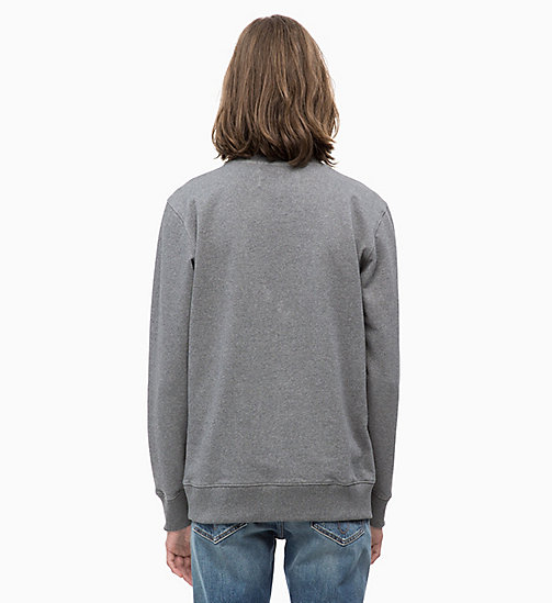 CALVIN KLEIN JEANS Slim Logo Sweatshirt - GREY HEATHER - CALVIN KLEIN JEANS NEW ICONS - detail image 1