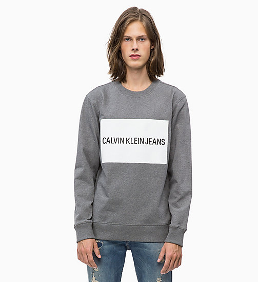 CALVIN KLEIN JEANS Slim Logo Sweatshirt - GREY HEATHER - CALVIN KLEIN JEANS NEW ICONS - main image