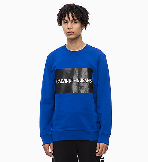 CALVIN KLEIN JEANS Slim Logo Sweatshirt - SURF THE WEB - CALVIN KLEIN JEANS FALL DREAMS - main image