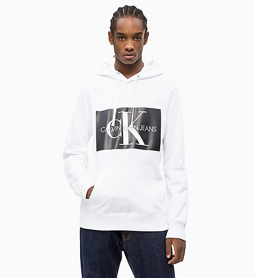 CALVIN KLEIN JEANS Logo Hoodie - BRIGHT WHITE - CALVIN KLEIN JEANS NEW IN - main image
