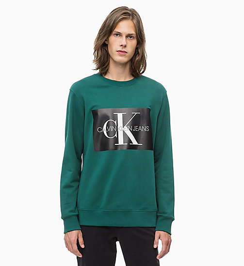 CALVIN KLEIN JEANS Свитшот с логотипом - JUNE BUG - CALVIN KLEIN JEANS LOGO SHOP - главное изображение