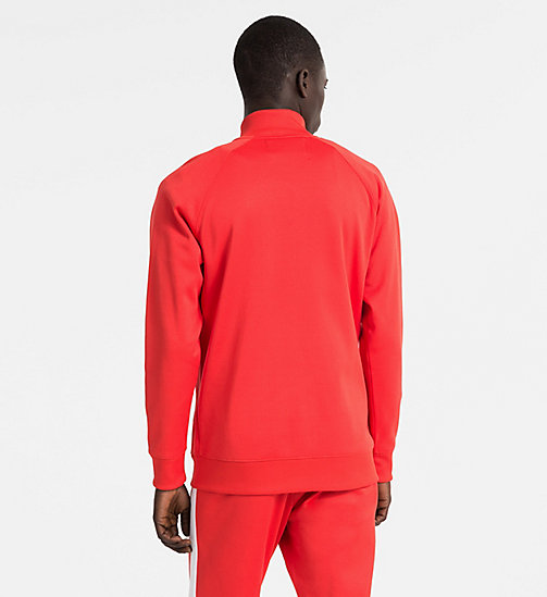 CALVIN KLEIN JEANS Logo Track Jacket - TOMATO -  NEW IN - detail image 1
