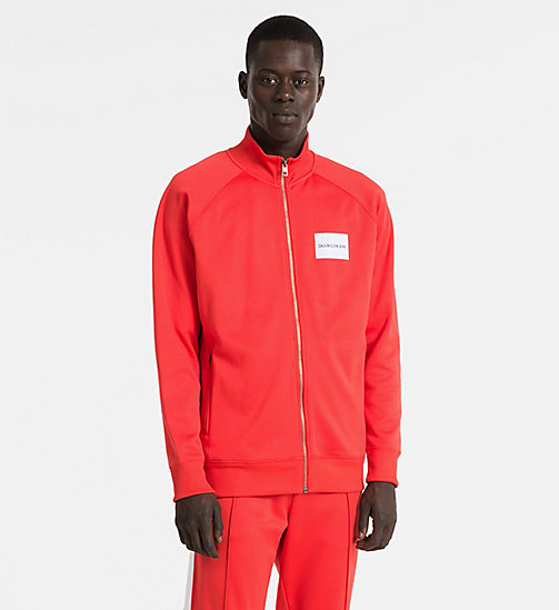 CALVIN KLEIN JEANS Logo Track Jacket - TOMATO -  NEW IN - main image