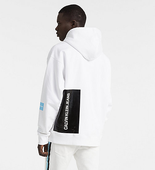 CALVIN KLEIN JEANS Oversized Multi Logo Hoodie - BRIGHT WHITE / SKY BLUE - CALVIN KLEIN JEANS NEW IN - detail image 1