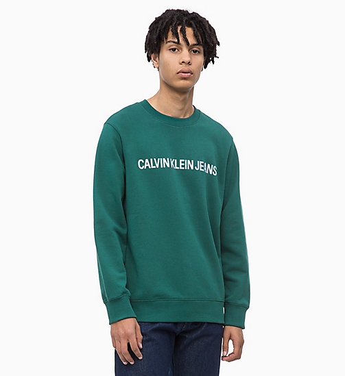 CALVIN KLEIN JEANS Logo Sweatshirt - JUNE BUG - CALVIN KLEIN JEANS The New Off-Duty - main image