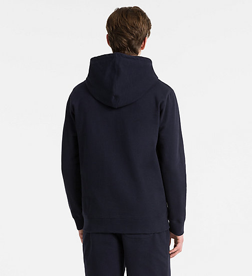 CALVIN KLEIN JEANS Logo Hoodie - NIGHT SKY - CALVIN KLEIN JEANS CLOTHES - detail image 1
