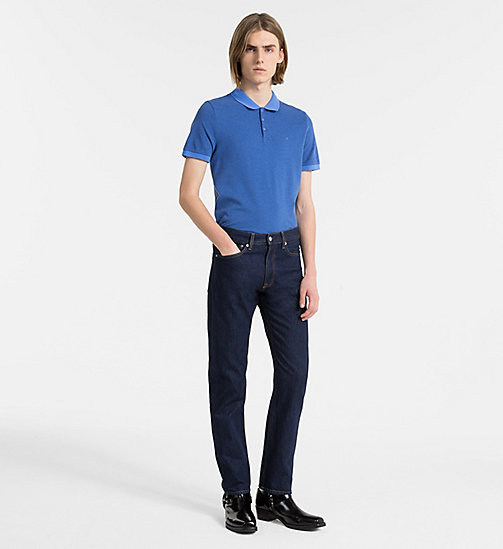 CALVIN KLEIN JEANS Slim Cotton Piqué Polo - REGATTA - CALVIN KLEIN JEANS NEW IN - detail image 1