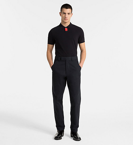 CALVIN KLEIN JEANS Slim Cotton Piqué Polo - CK BLACK - CALVIN KLEIN JEANS NEW IN - detail image 1