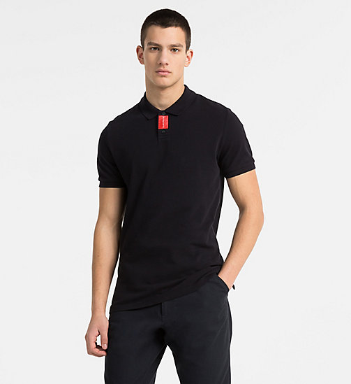 CALVIN KLEIN JEANS Slim Cotton Piqué Polo - CK BLACK - CALVIN KLEIN JEANS NEW IN - main image