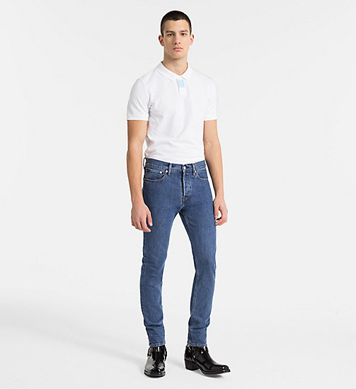 CALVIN KLEIN JEANS Slim Cotton Piqué Polo - BRIGHT WHITE - CALVIN KLEIN JEANS NEW IN - detail image 1