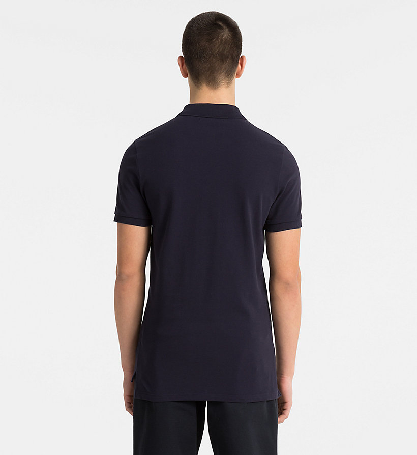 CALVIN KLEIN JEANS Slim Cotton Piqué Polo - CK BLACK / BRIGHT WHITE - CALVIN KLEIN JEANS MEN - detail image 1