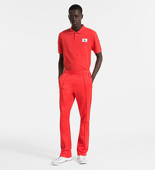 CALVIN KLEIN JEANS Cotton Piqué Polo - TOMATO - CALVIN KLEIN JEANS PACK YOUR BAG - detail image 1
