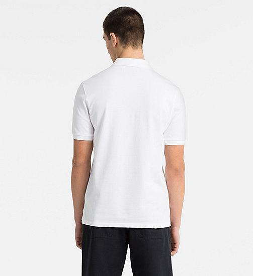 CALVIN KLEIN JEANS Cotton Piqué Polo - BRIGHT WHITE / CK BLACK - CALVIN KLEIN JEANS CLOTHES - detail image 1