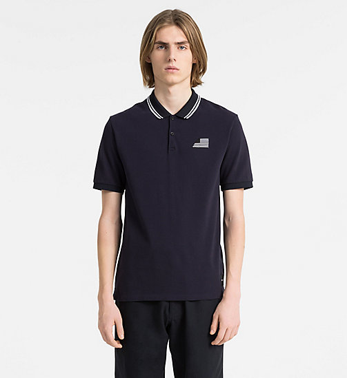 CALVIN KLEIN JEANS Cotton Piqué Polo - NIGHT SKY - CALVIN KLEIN JEANS NEW IN - main image