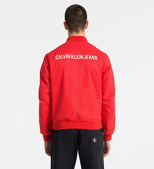 CALVIN KLEIN JEANS Logo Bomber Jacket - TOMATO - CALVIN KLEIN JEANS PACK YOUR BAG - detail image 1