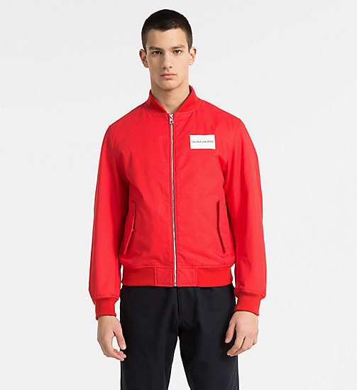 CALVIN KLEIN JEANS Logo Bomber Jacket - TOMATO - CALVIN KLEIN JEANS PACK YOUR BAG - main image