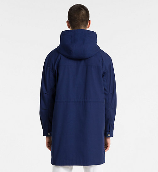 CALVIN KLEIN JEANS Canvas Hooded Parka Coat - BLUE DEPTHS - CALVIN KLEIN JEANS NEW IN - detail image 1