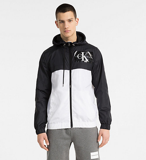 CALVIN KLEIN JEANS Two-Tone Hooded Jacket - BRIGHT WHITE - CALVIN KLEIN JEANS CLOTHES - main image