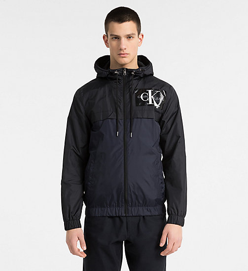 CALVIN KLEIN JEANS Two-Tone Hooded Jacket - NIGHT SKY - CALVIN KLEIN JEANS CLOTHES - main image